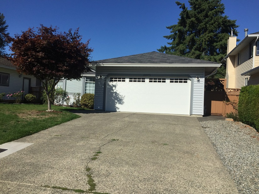 Old Garage Door Replacement before and after