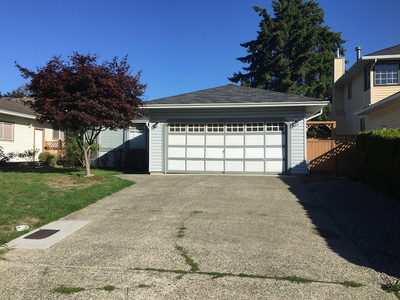 Old Garage Door Before and After