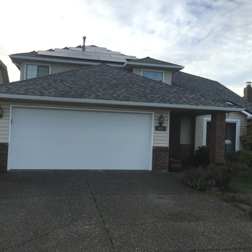 Before and After Garage Door Installation Delta BC