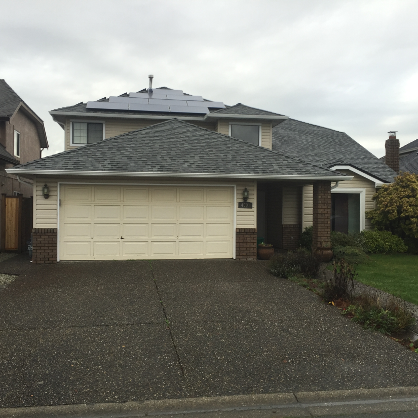 Before and After Garage Door Installation Ladner