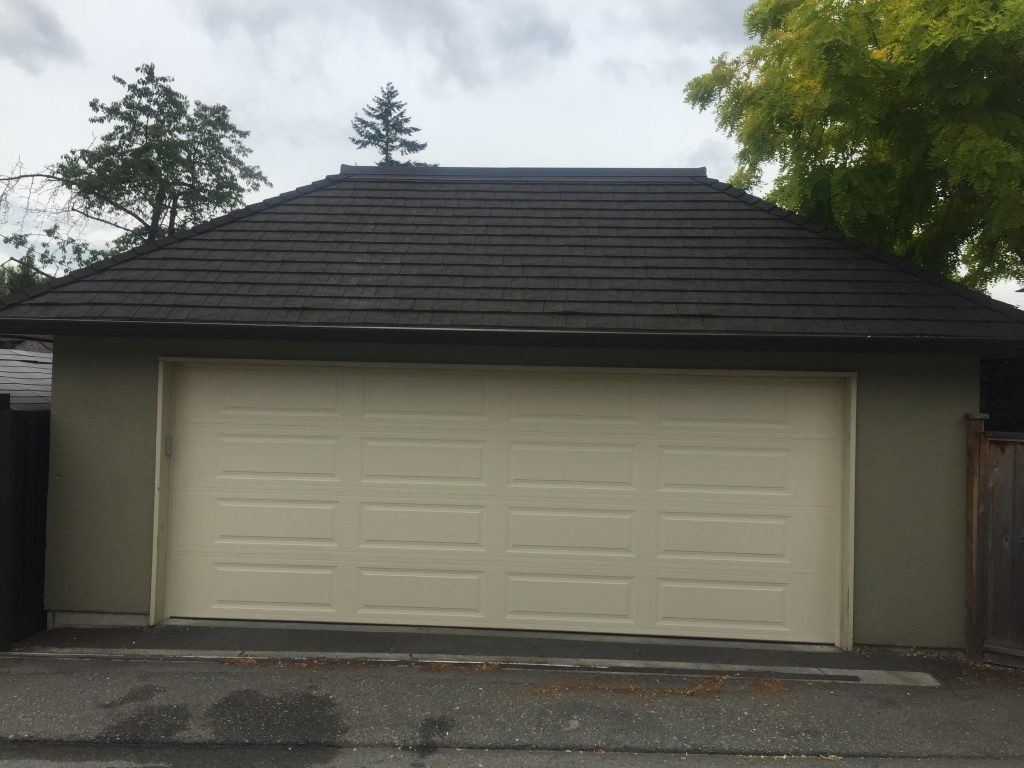 Double Car Garage Short Panel Replaced With Long Panel Access Garage Doors
