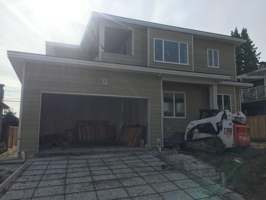 view of garage door that has yet to be installed