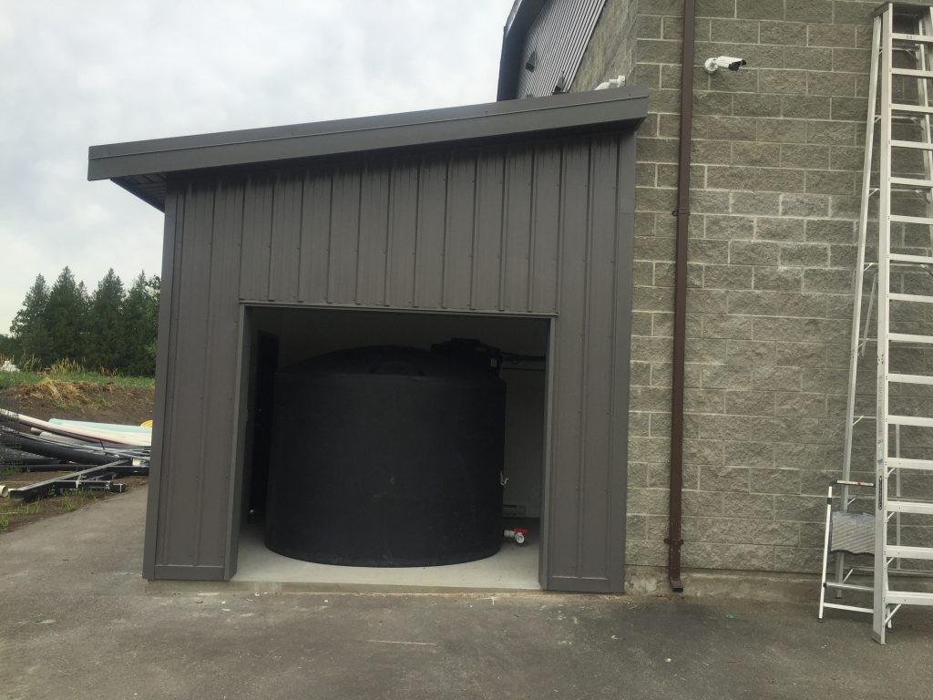 Before the garage door was installed
