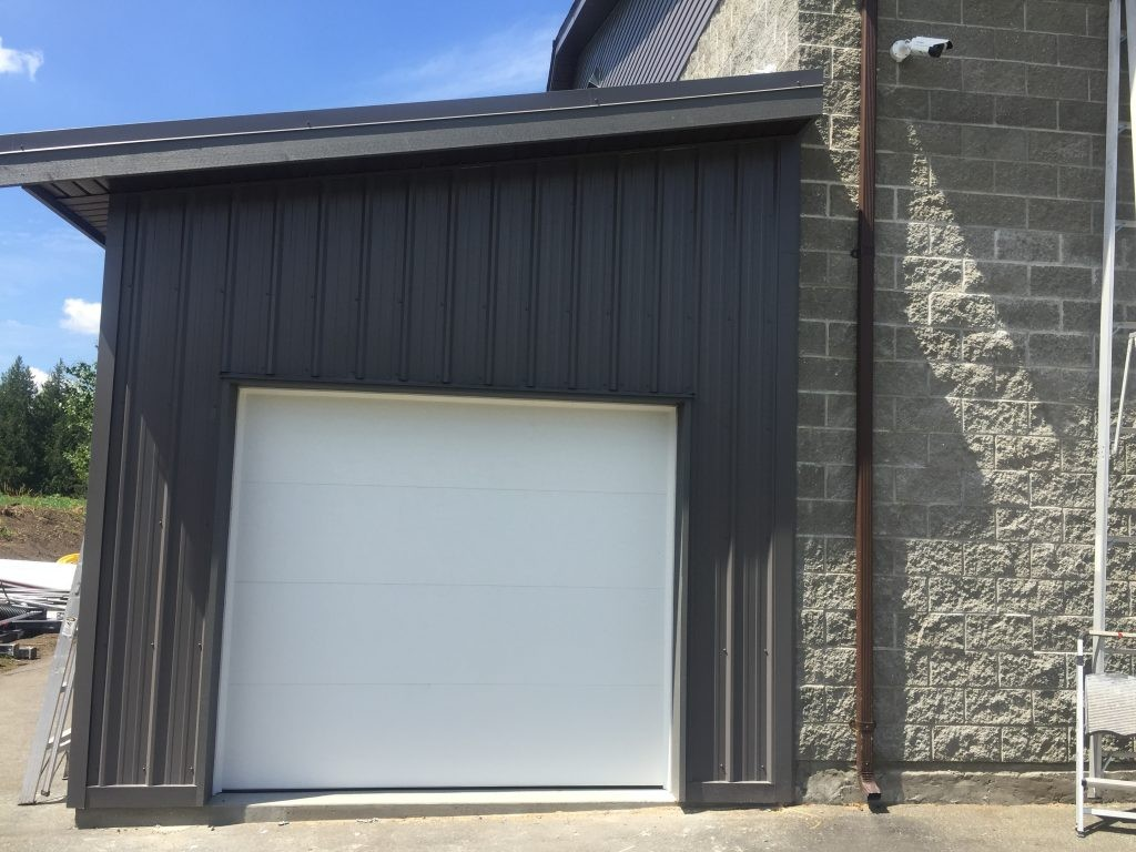 After install of garage door with flush style
