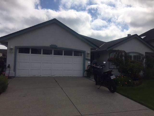 View of garage door installed in Tsawwassen