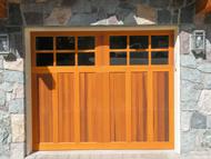 wood garage doors in cedar, redwood, alder, fir and mahogany