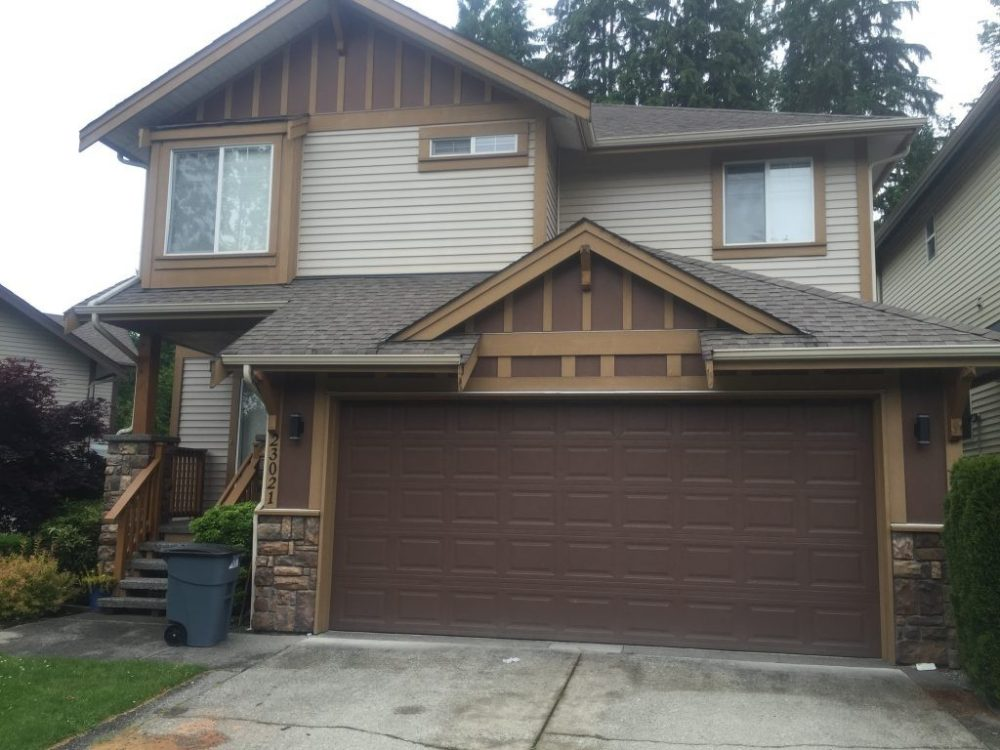 View of garage door installed in Maple Ridge