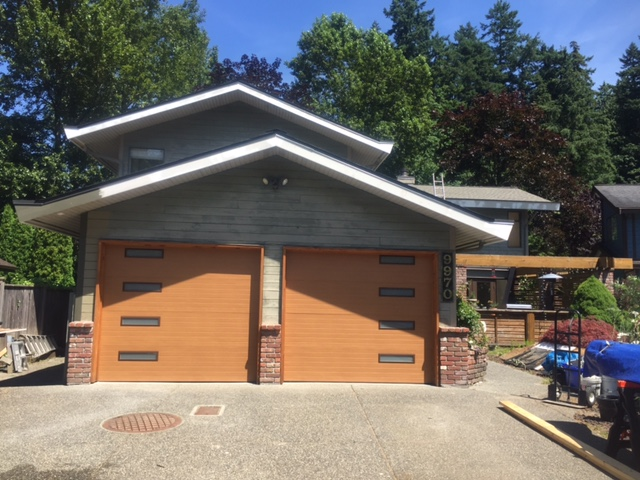View of new garage door installed in Surrey