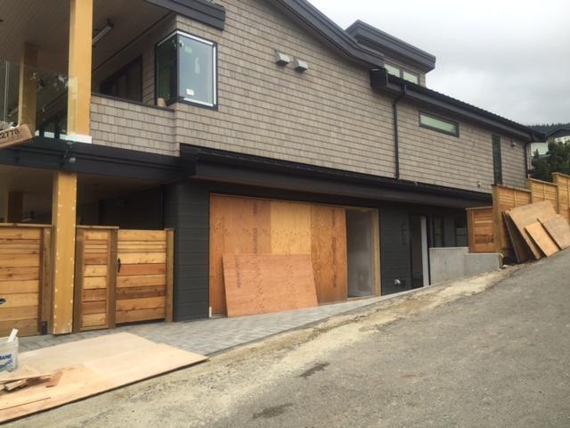 View of Modern Tech door installed in North Vancouver.