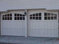 real wood garage doors in carriage house style