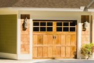 handcrafted natural wood garage doors