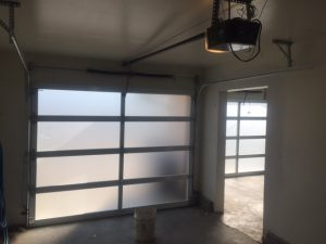 After view of new garage doors installed in Ladner