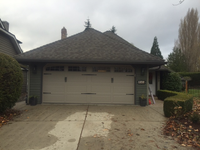 After view of garage door installed in Tsawwassen.